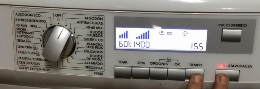 Como resetear lavadora AEG