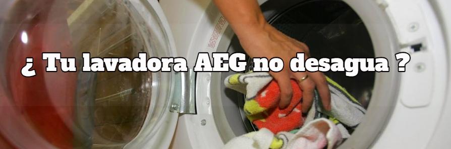 Lavadora AEG no desagua